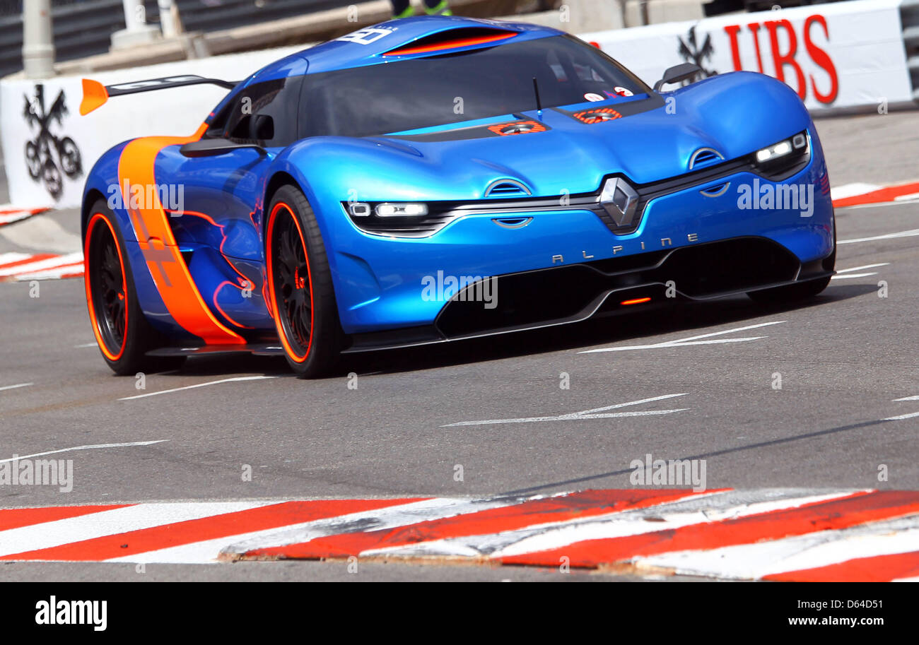 the new renault alpine a110 50 concept car is seen at the f1 race stock photo royalty free. Black Bedroom Furniture Sets. Home Design Ideas