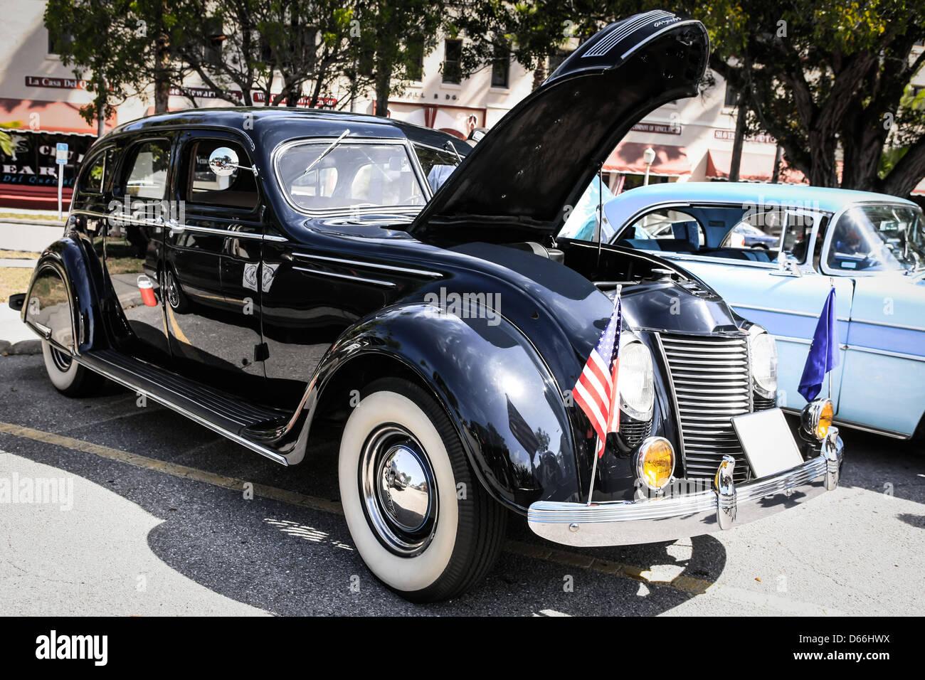 1937 Chrysler Airflow 4 Door Sedan American Classic Car Stock