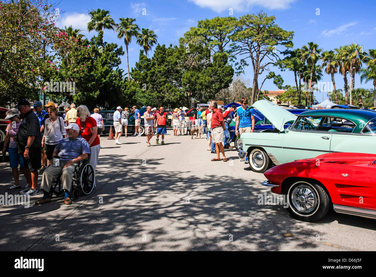 Classic and Custom Car show in downtown Venice Florida Stock Photo ...