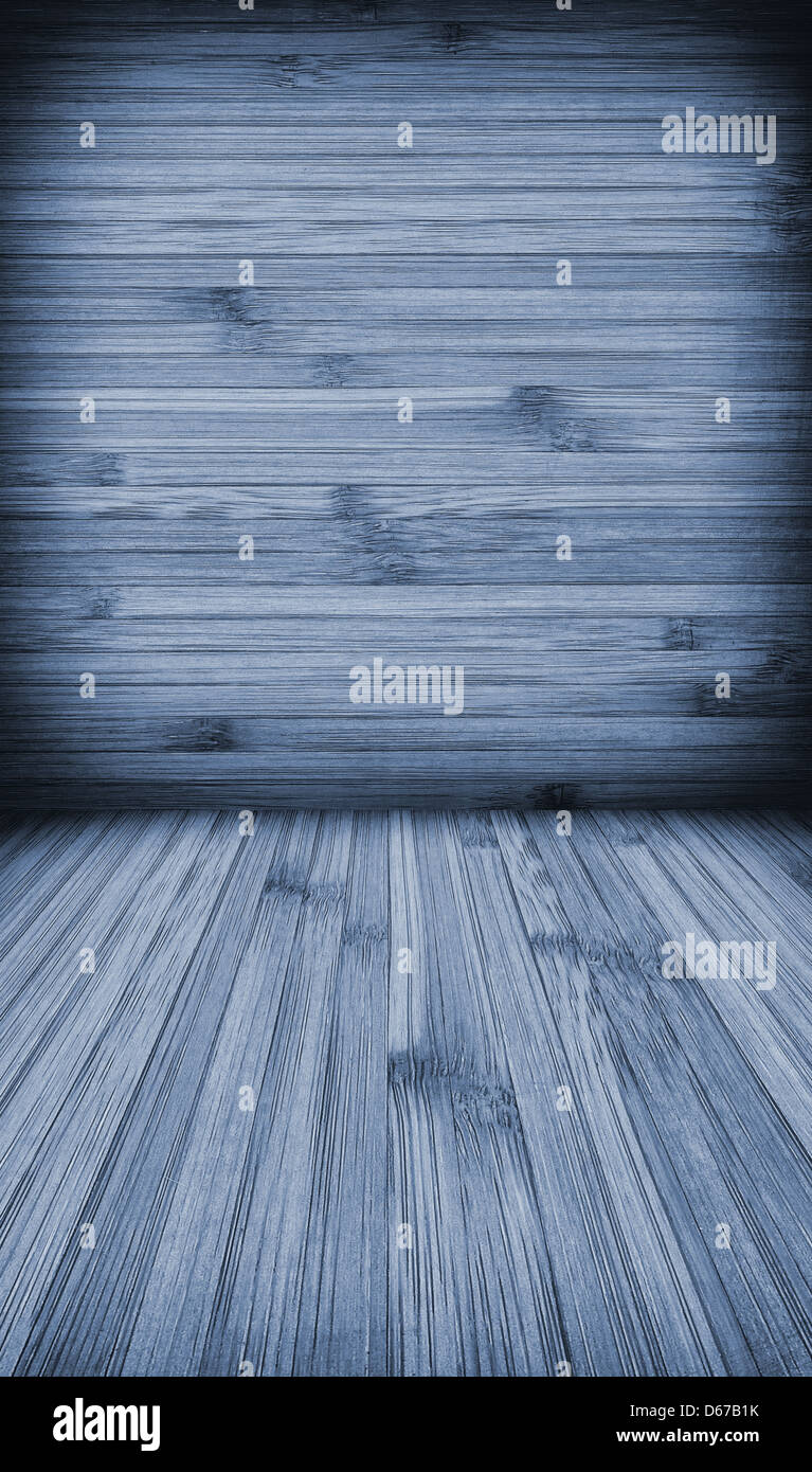 Wooden wall and floor background with vertica and horizontal lines ...