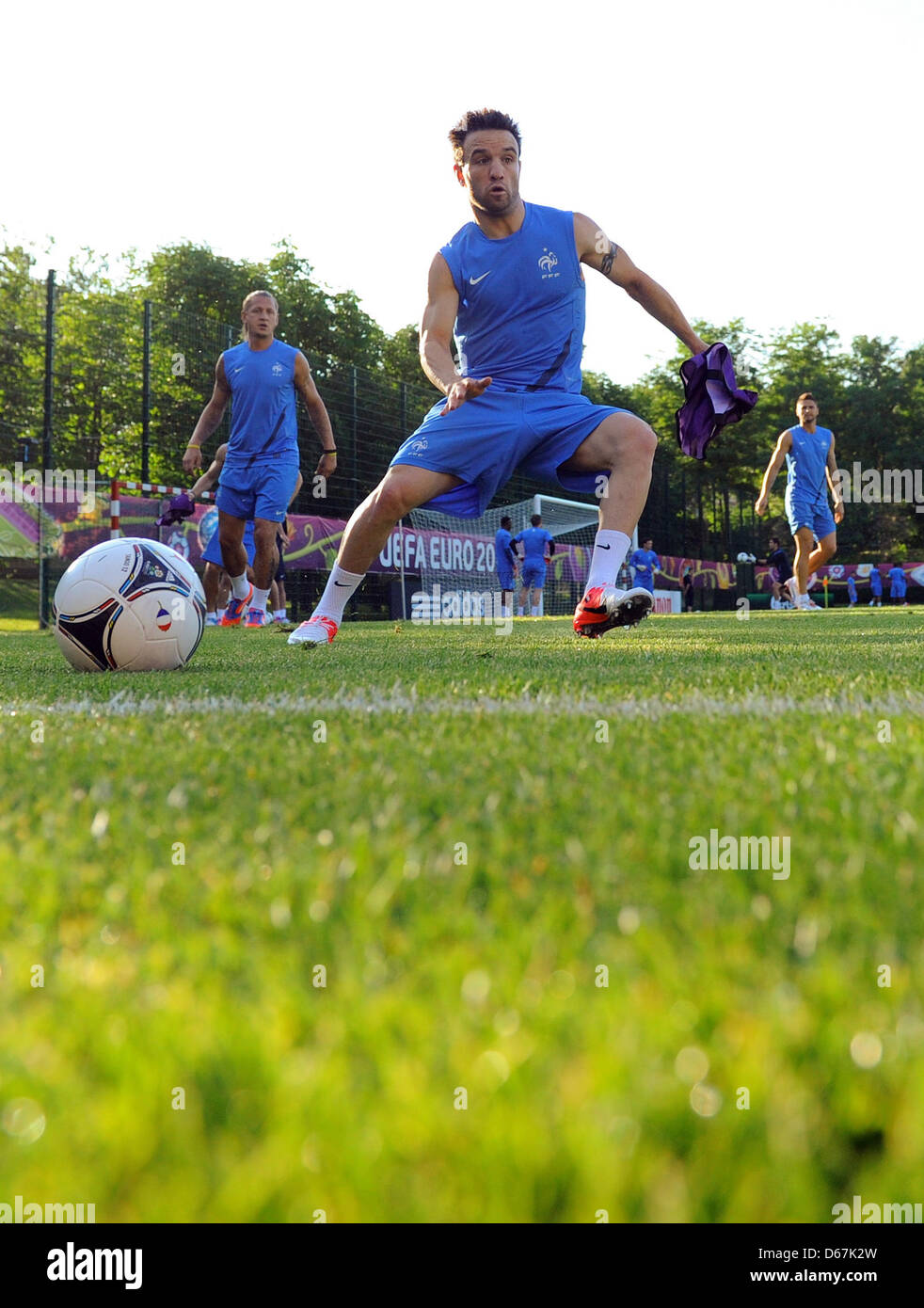 France s Mathieu Valbuena attends a training session of the French