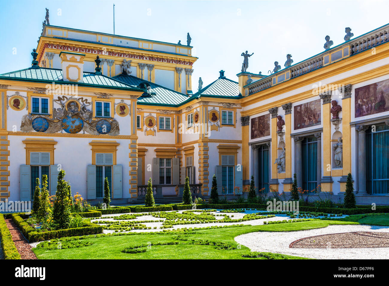 A fine example of 17th century baroque architecture at the for Baroque architecture examples