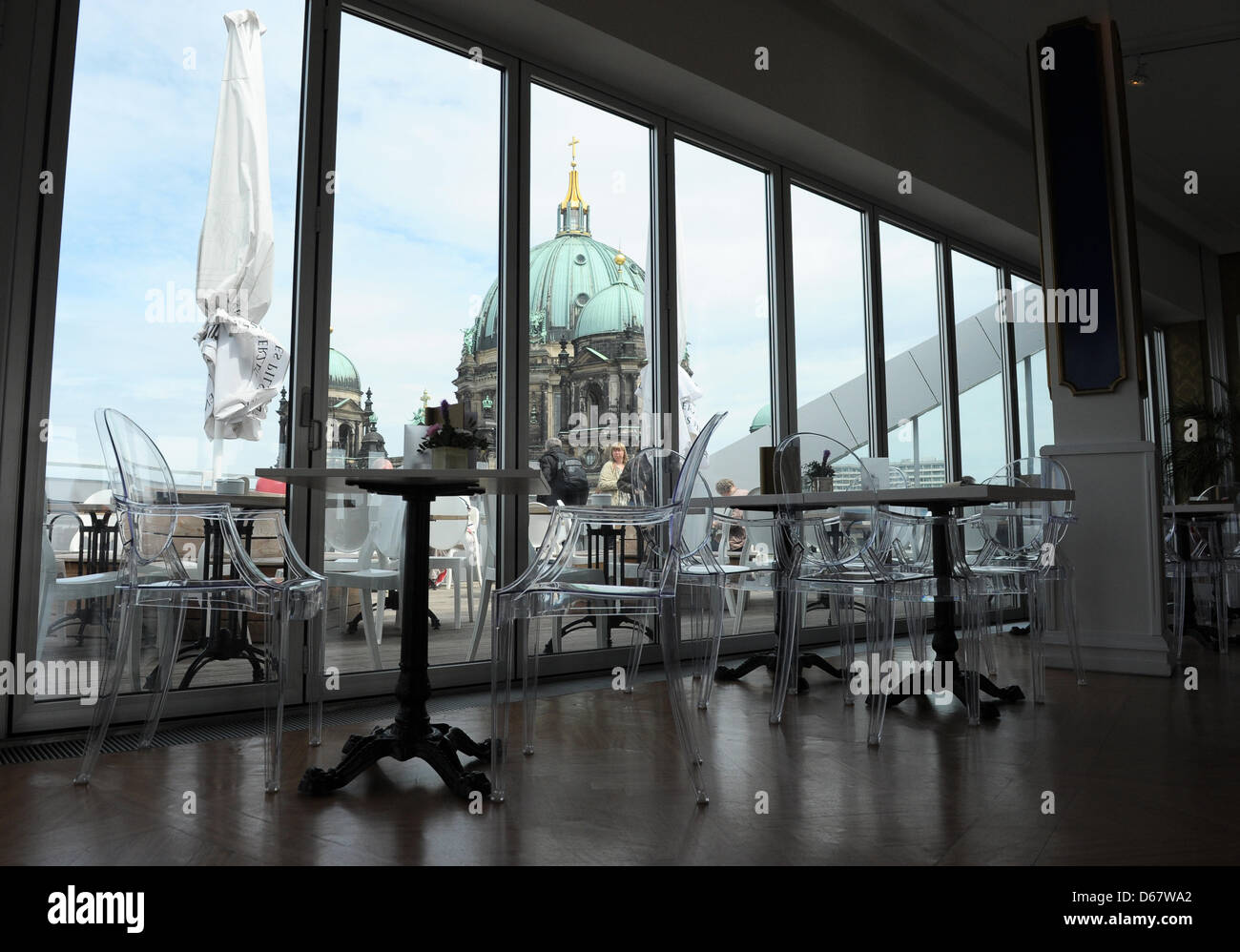 view of the berlin cathedral from the restaurant of the humboldt box stock photo royalty free. Black Bedroom Furniture Sets. Home Design Ideas