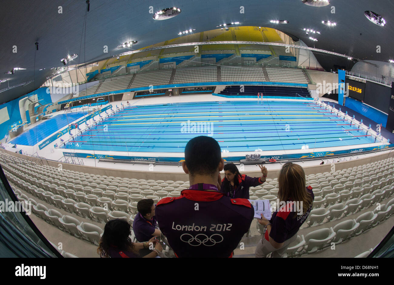 the swimming pool in the aquatics center in the olympic park in london great britain 19