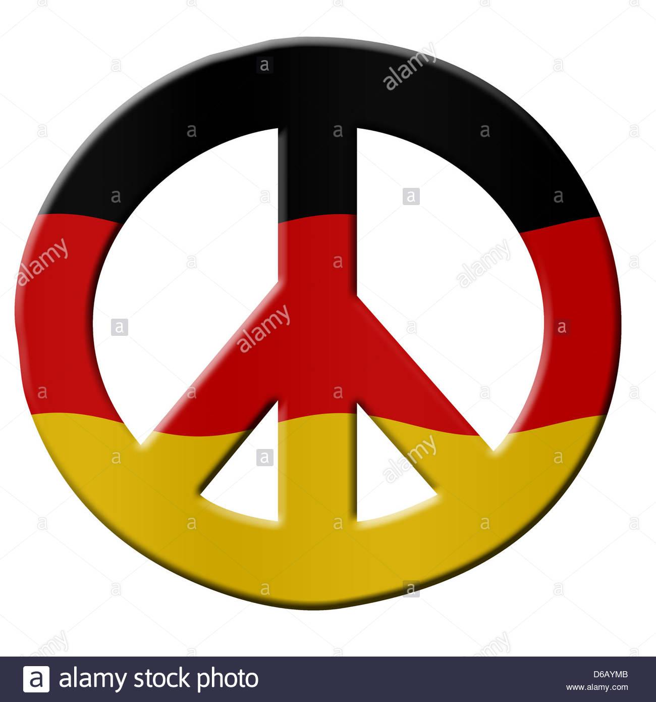 Digital illustration german flag with peace symbol stock photo german flag with peace symbol biocorpaavc