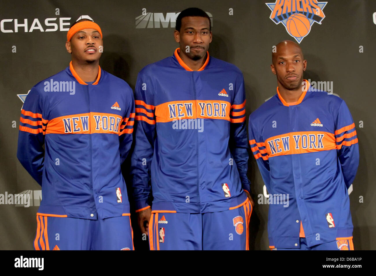 Carmelo Anthony Amare Stoudemire and Chauncey Billups The New