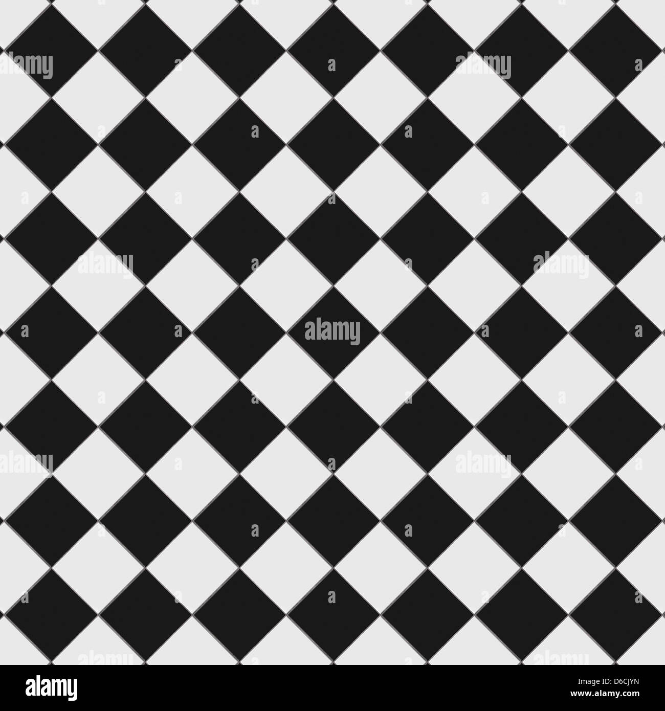 Black and white checkered floor tiles with texture. This tiles ...