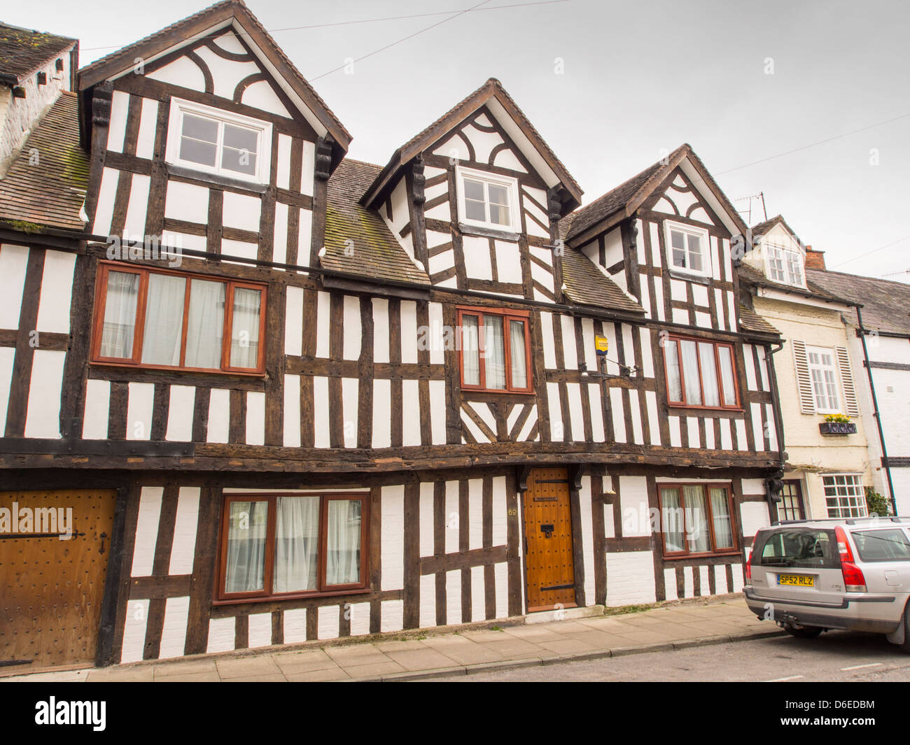 ancient jacobean timber framed houses on corve street in ludlow