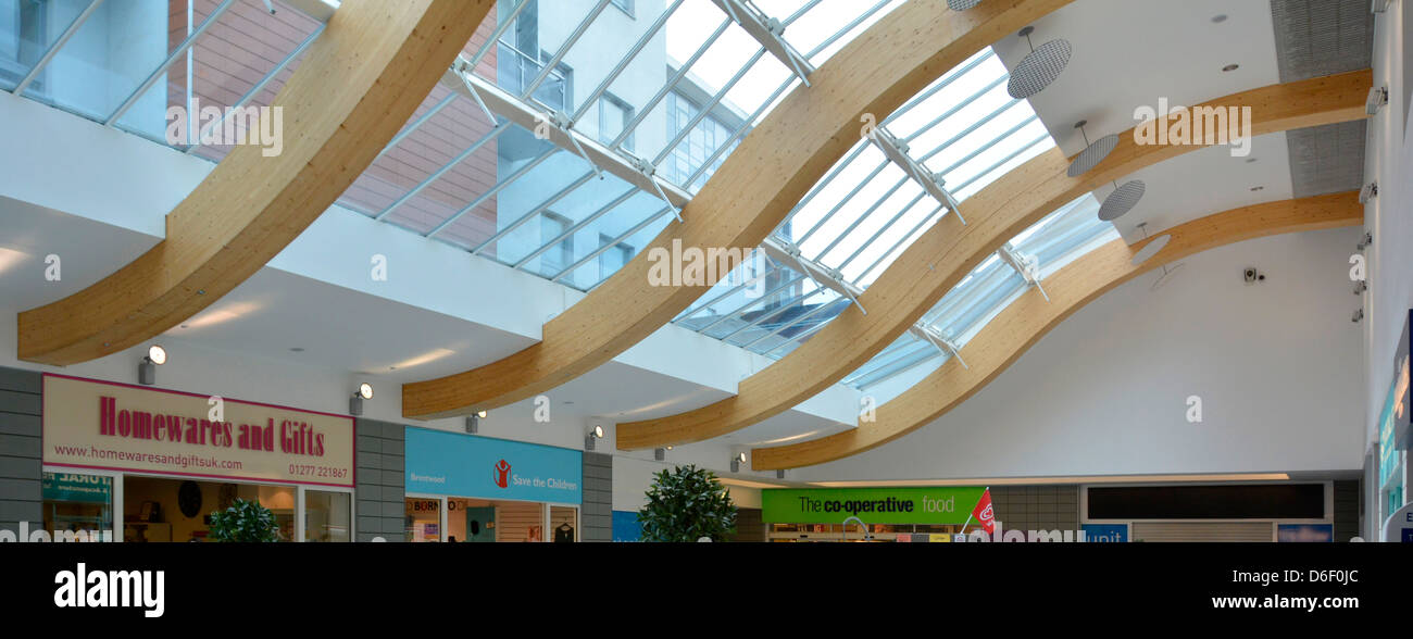 Wonderful Stock Photo   Timber Beams Used In Shopping Mall As Part Of A Curved Roof  Structure Supporting Glazing
