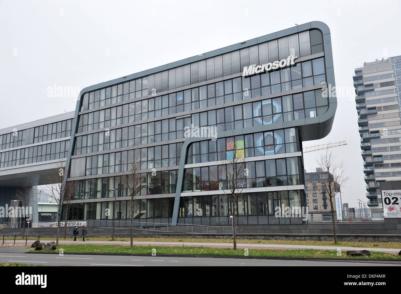 microsoft office building. Cologne, Germany, Microsoft Office Buildings On The Bank Of Rhine Building O