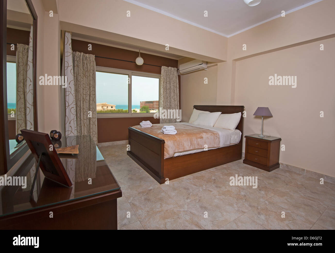 Show Home Bedroom Bedroom In A Luxury Apartment Show Home With Interior Design Stock