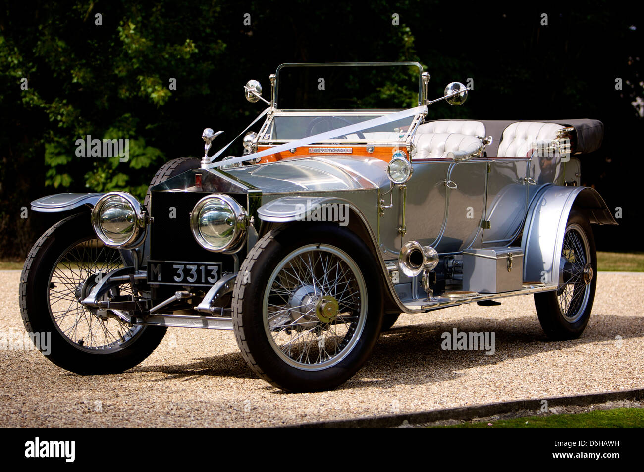 Old fashioned silver rolls royce Stock Photo, Royalty Free Image ...