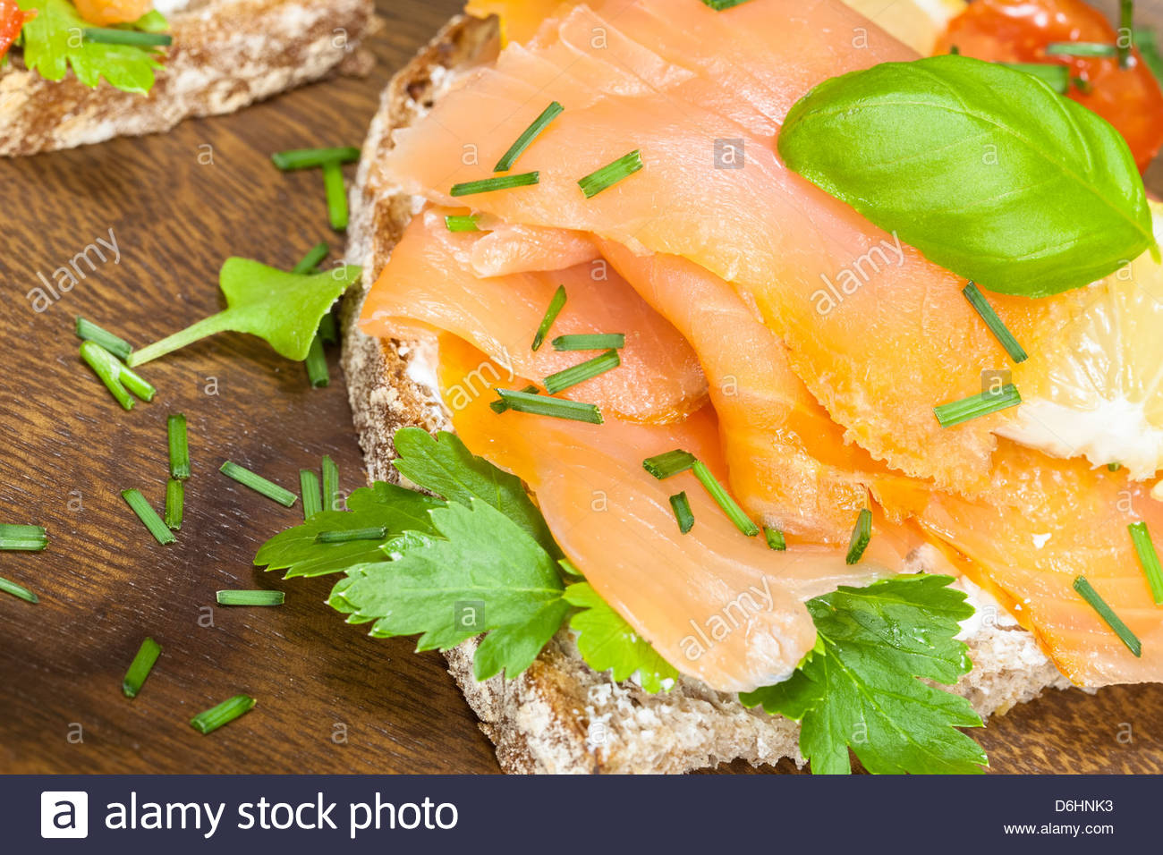 Smoked salmon and cream cheese canape stock photo royalty for Smoked salmon cream cheese canape
