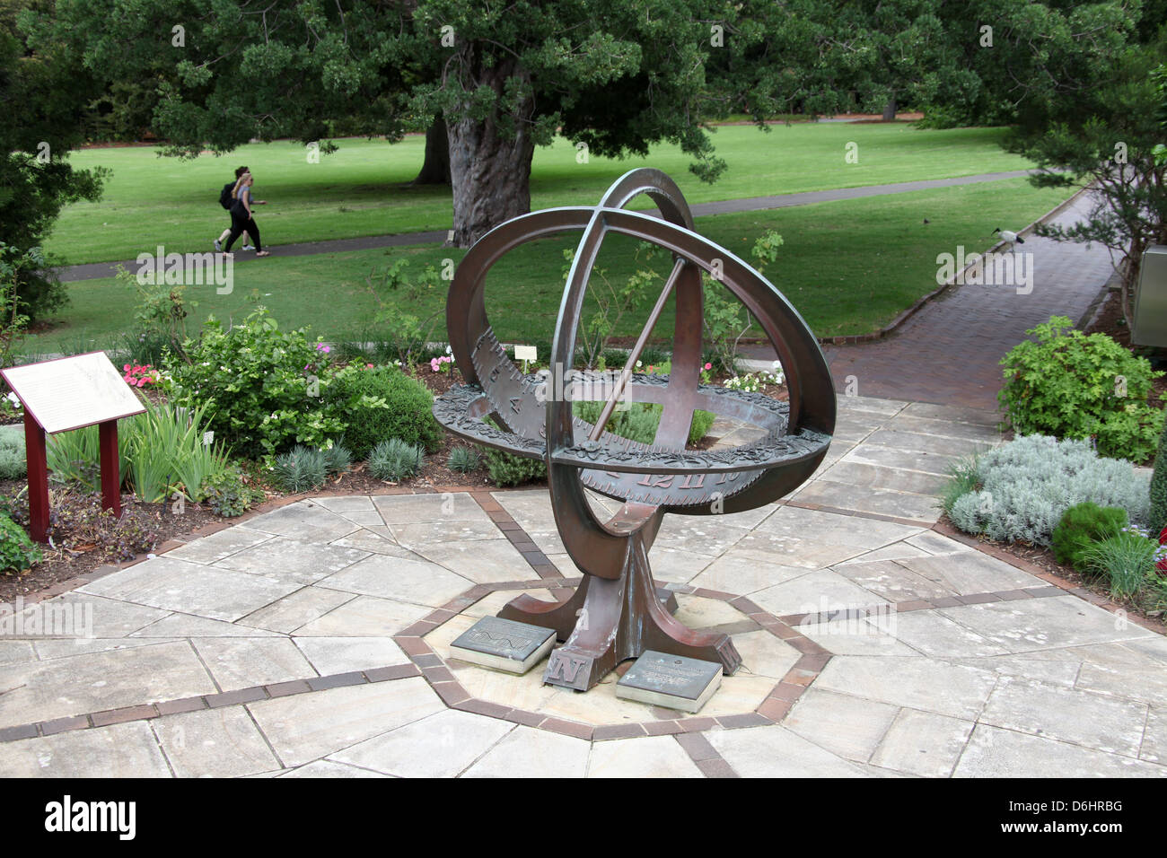 Armillary Sundial In The Herb Garden Of The Royal Botanic Gardens Of Sydney