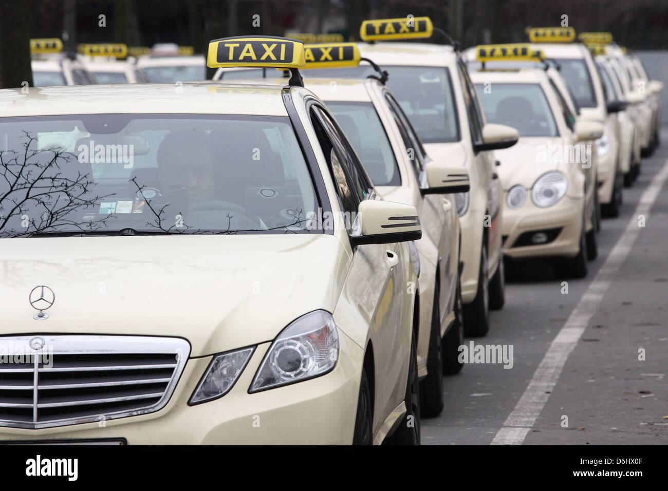 berlin germany taxi stand at the airport tegel stock photo royalty free image 55712623 alamy. Black Bedroom Furniture Sets. Home Design Ideas