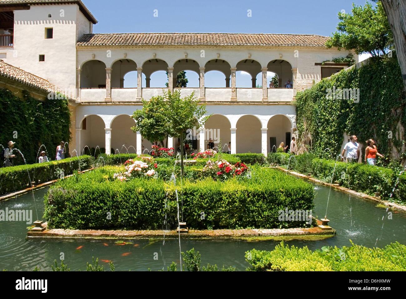 Jardin de la sultana palace of alhambra granada spain for Jardines de gomerez granada