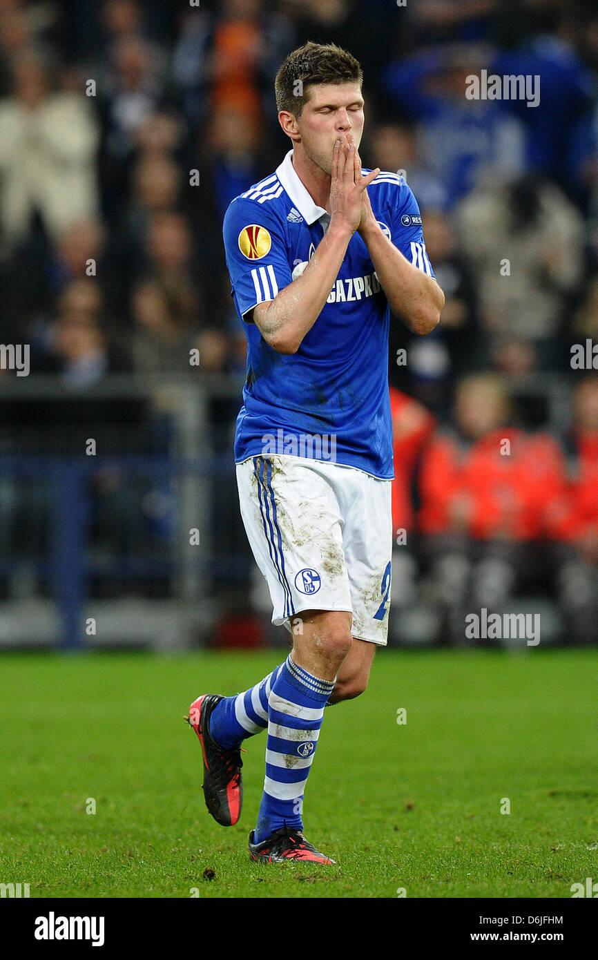 Schalke s Klaas Jan Huntelaar is pictured during the Europa League