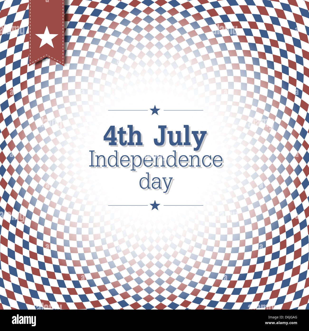 Poster design keywords - Independence Day 4th Of July Poster Design With Blue And Red Checkered Abstract Background