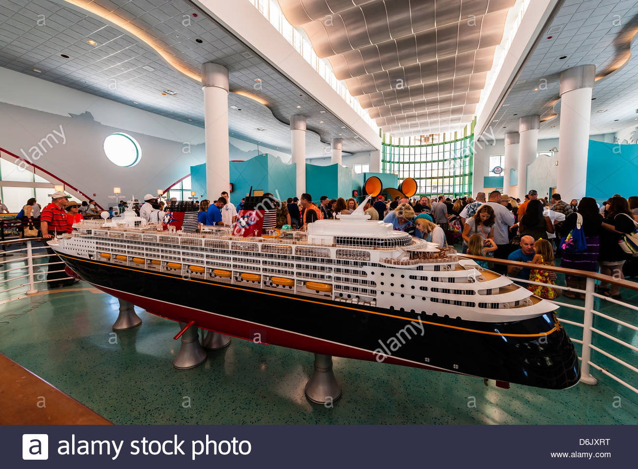 Model Of The New Disney Dream Cruise Ship Disney Cruise Line - Cruise ships port canaveral