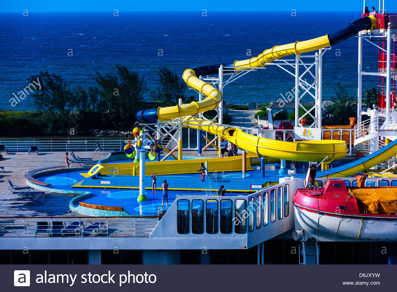 Water Slide Carnival Fantasy Cruise Ship Nassau The Bahamas - Fantasy cruise ship pictures
