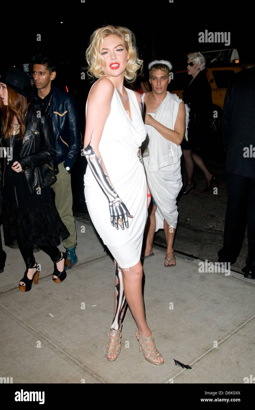 Kate Upton Heidi Klum's Halloween Party held at the Dream Downtown ...