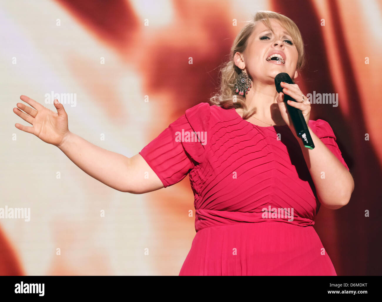 Singer Maite Kelly performs during the German television ...