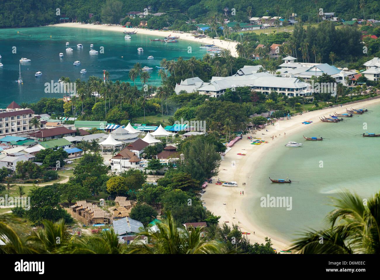 Phi Phi Islands Beaches Loh Dalum Tonsai Bay Long Beach: Ton Sai And Loh Dalum Bay View, Ko Phi Phi Island