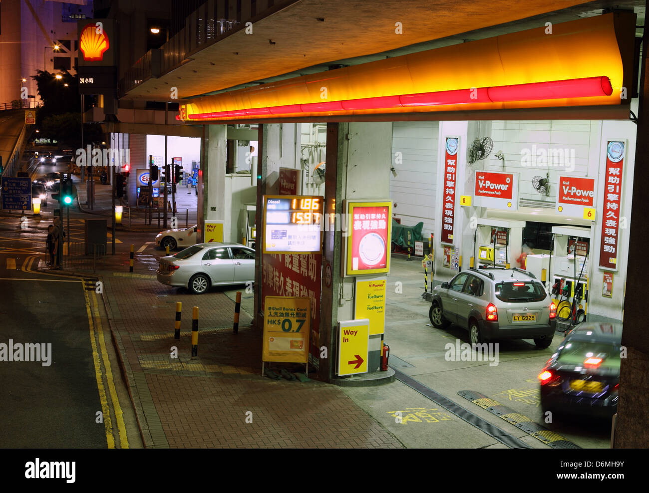 Hong Kong, China, Shell gas station Stock Photo, Royalty Free ...