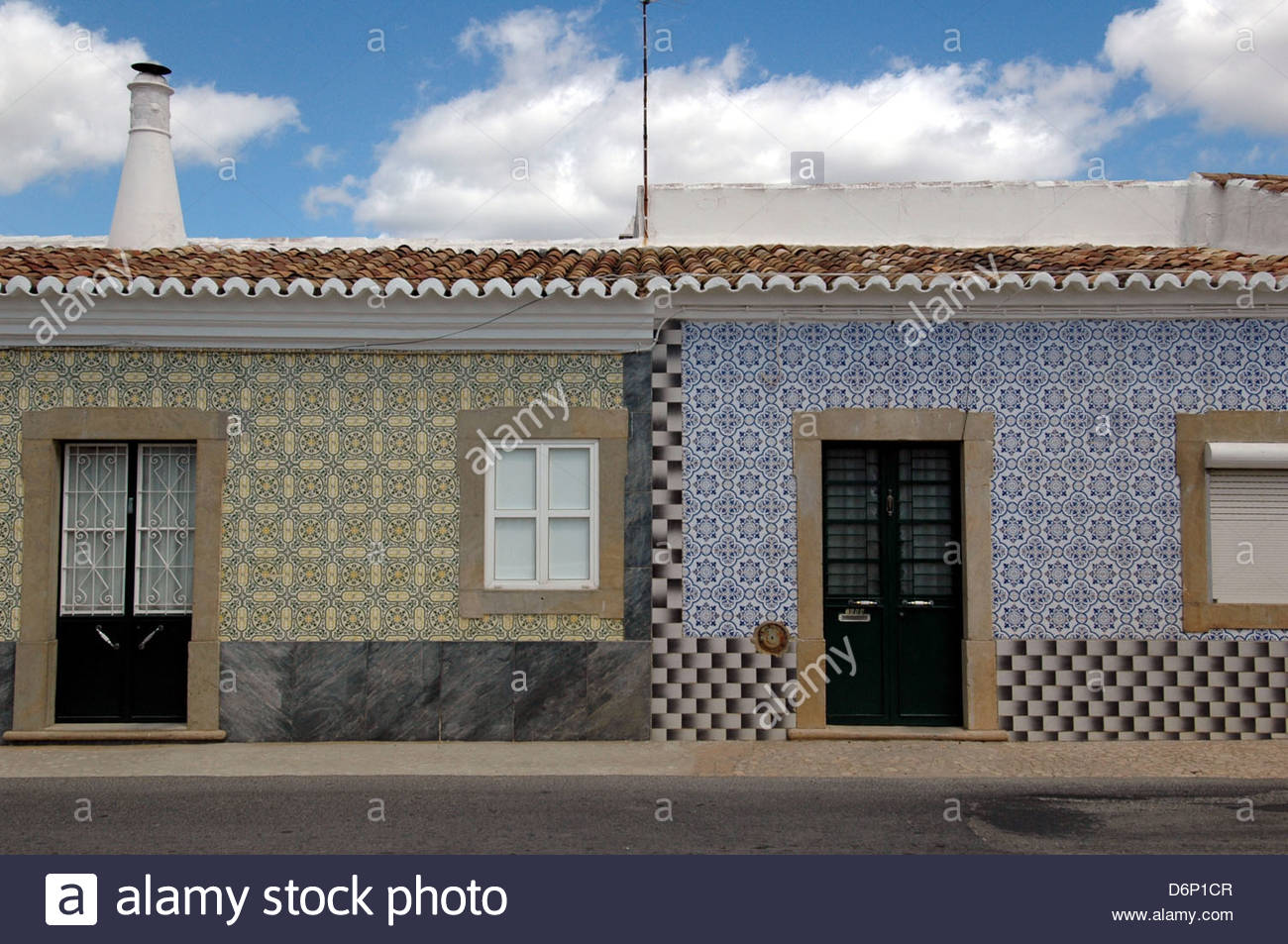 stock photo typical tiled house in a rural village algarve southern portugal