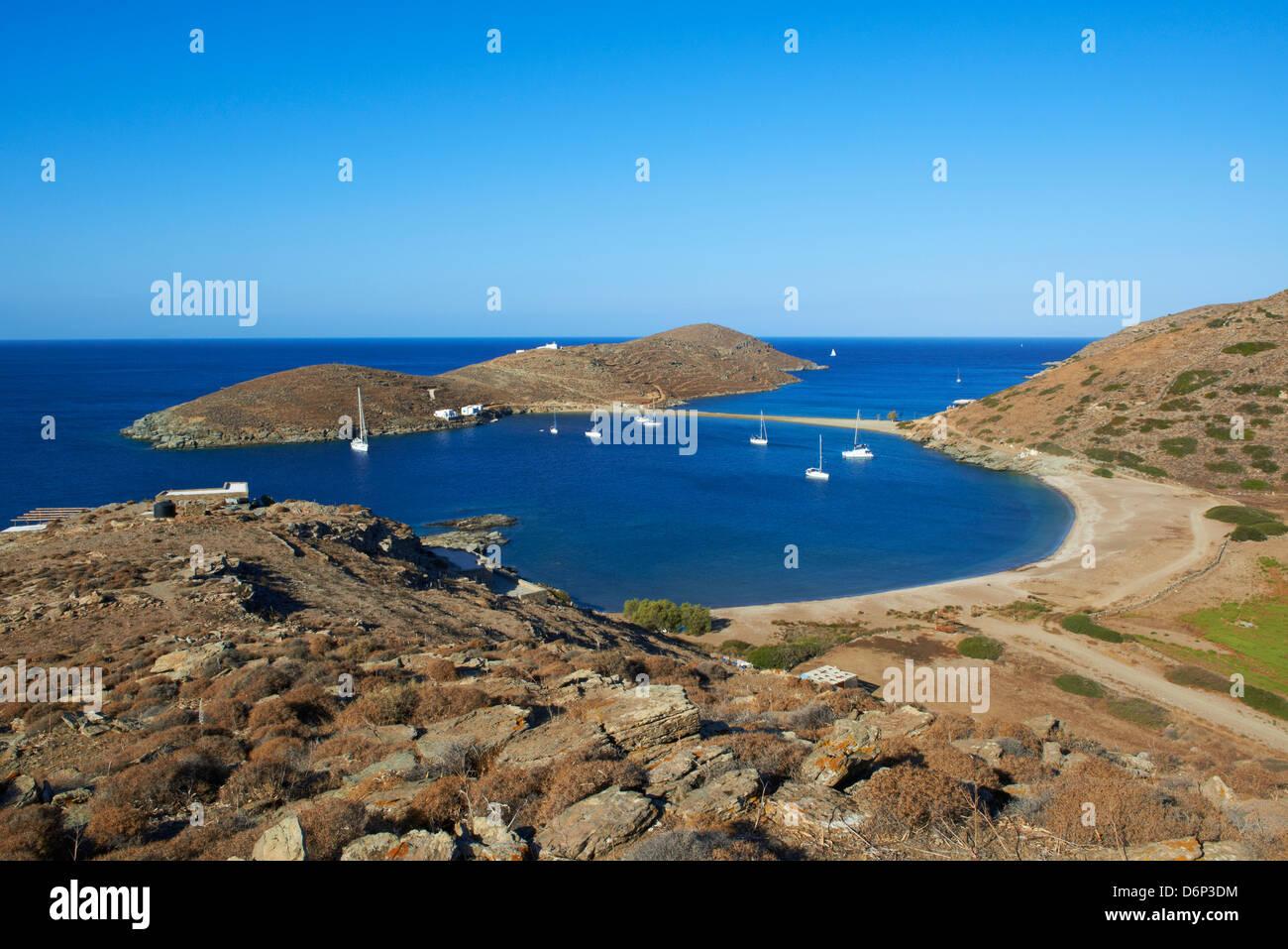 Kolona beach, Kythnos, Cyclades, Greek Islands, Greece ...