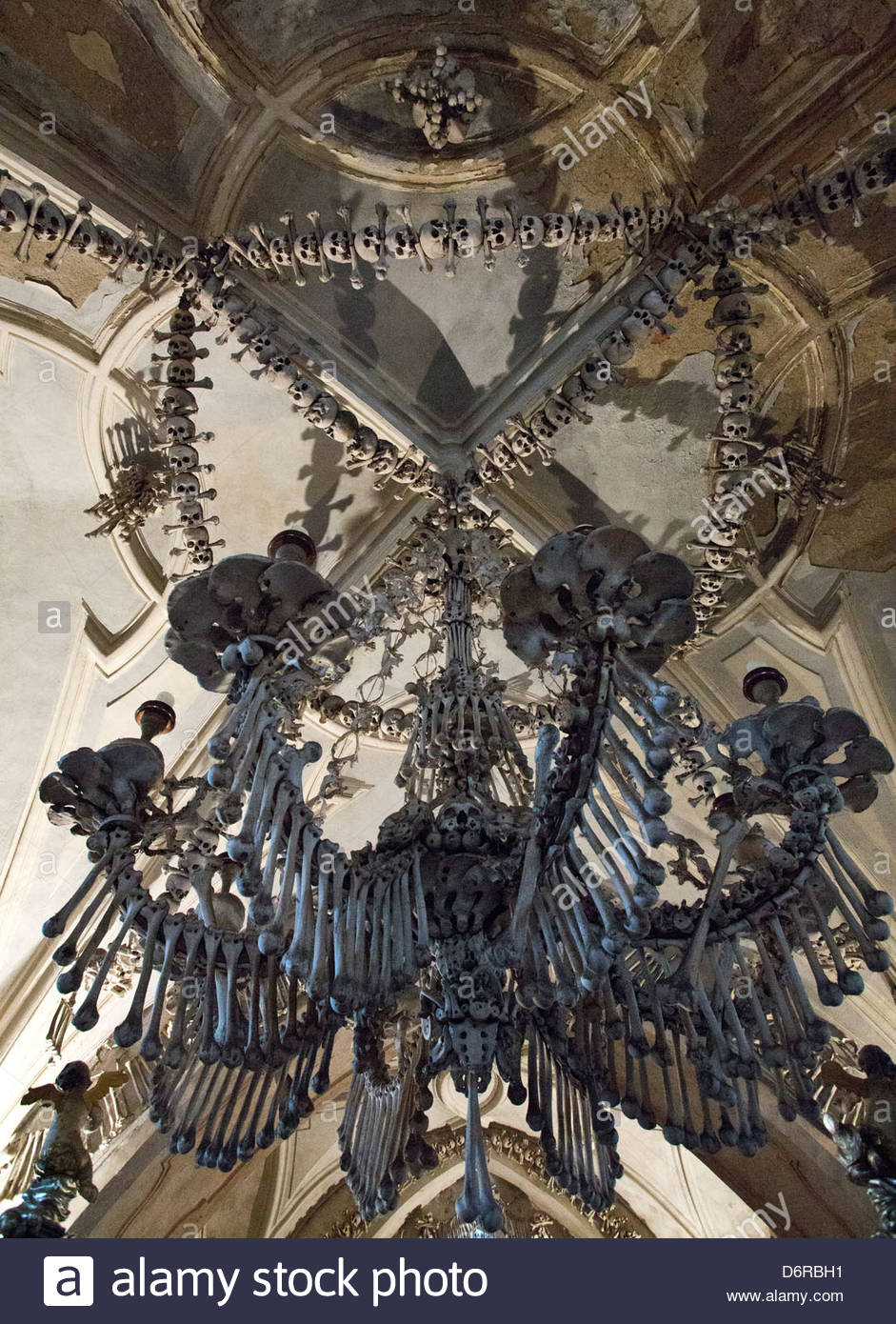 Czech republic kutna hora bone church bone chandelier stock photo czech republic kutna hora bone church bone chandelier aloadofball