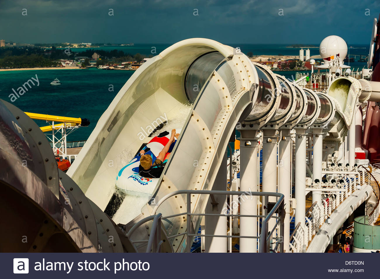 AquaDuck Water Slide Aboard The Cruise Ship Disney Dream - Cruise ship slide