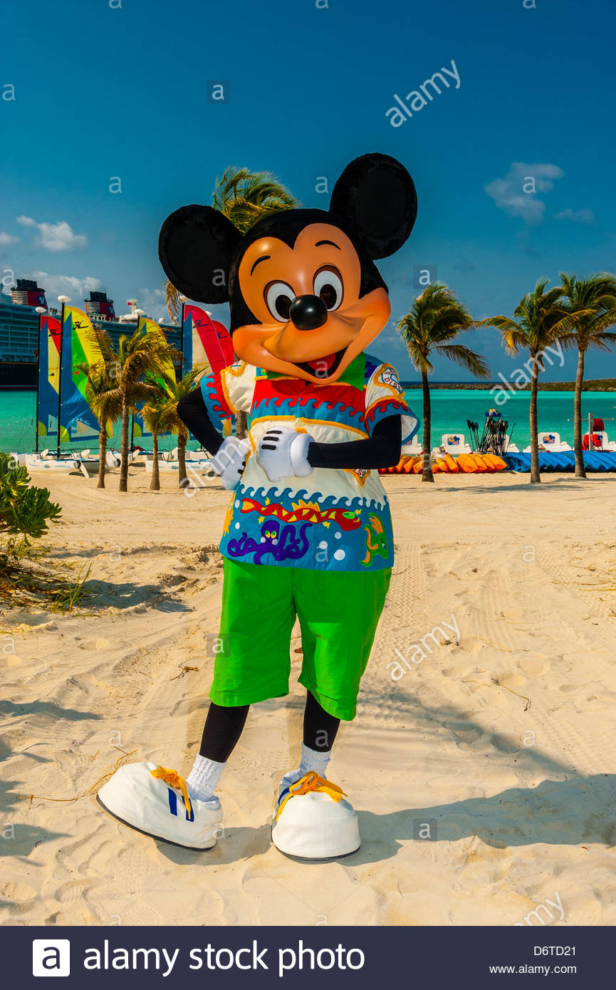 Mickey mouse disney dream cruise ship docked at castaway cay mickey mouse disney dream cruise ship docked at castaway cay disneys private island in background the bahamas biocorpaavc