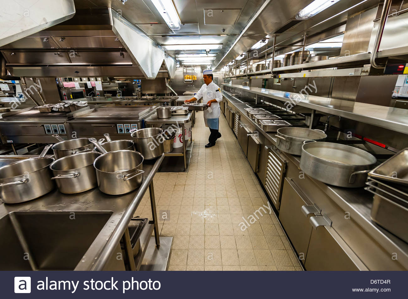 Galley Kitchen Of The Disney Dream Disney Cruise Lines Sailing - Cruise ship kitchen