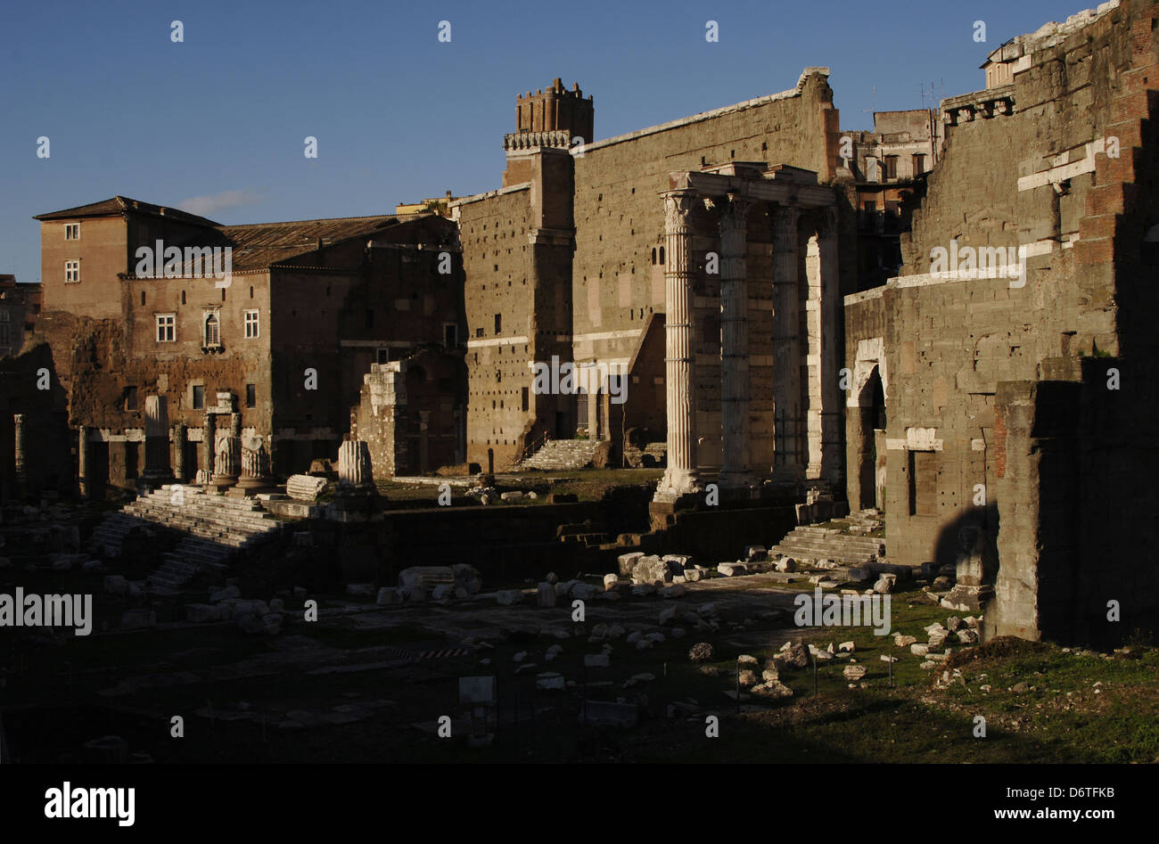 """a history and meaning of the temple of mars ultor in the forum of augustus in rome The temple of augustus and rome in ancyra  remains of the forum of augustus with the temple of mars ultor in the  (from the greek thermos meaning """"hot."""