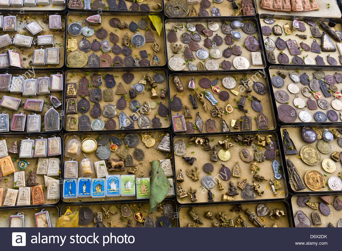 Amulets, the Amulet Market, Bangkok, Thailand Stock Photo, Royalty Free Image...