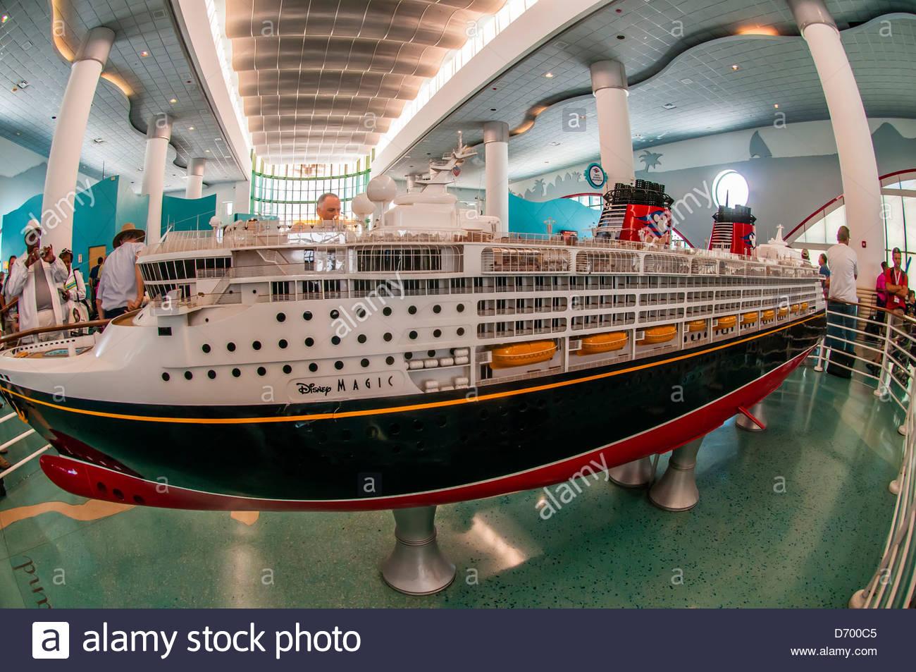 Model Of The New Disney Dream Cruise Ship Disney Cruise Line Stock