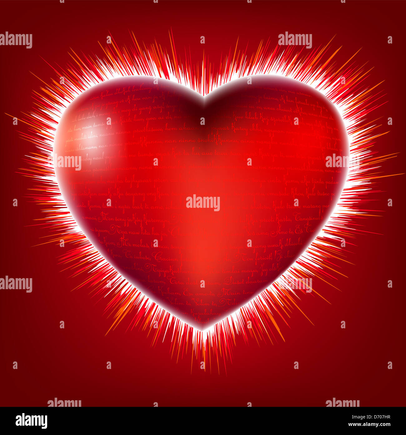 I love you in different languages on gloss heart symbol with burst i love you in different languages on gloss heart symbol with burst rays biocorpaavc Gallery