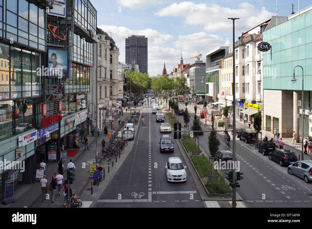 berlin germany the shopping street castle in berlin steglitz stock photo 55963933 alamy. Black Bedroom Furniture Sets. Home Design Ideas