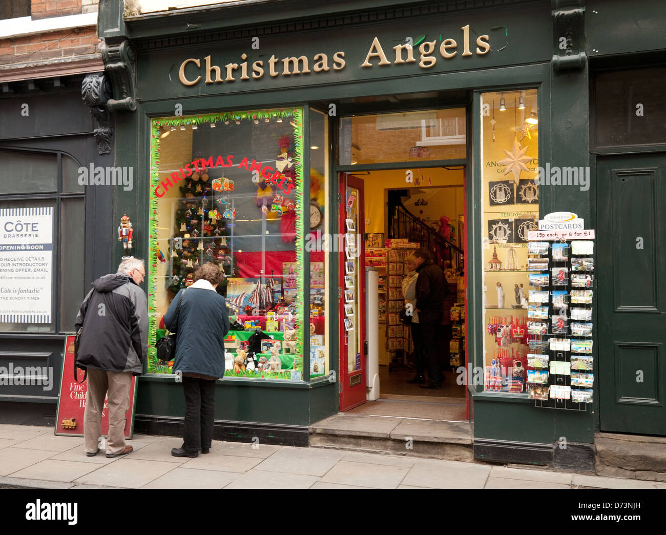 The christmas angels shop selling christmas related goods for The christmas shop
