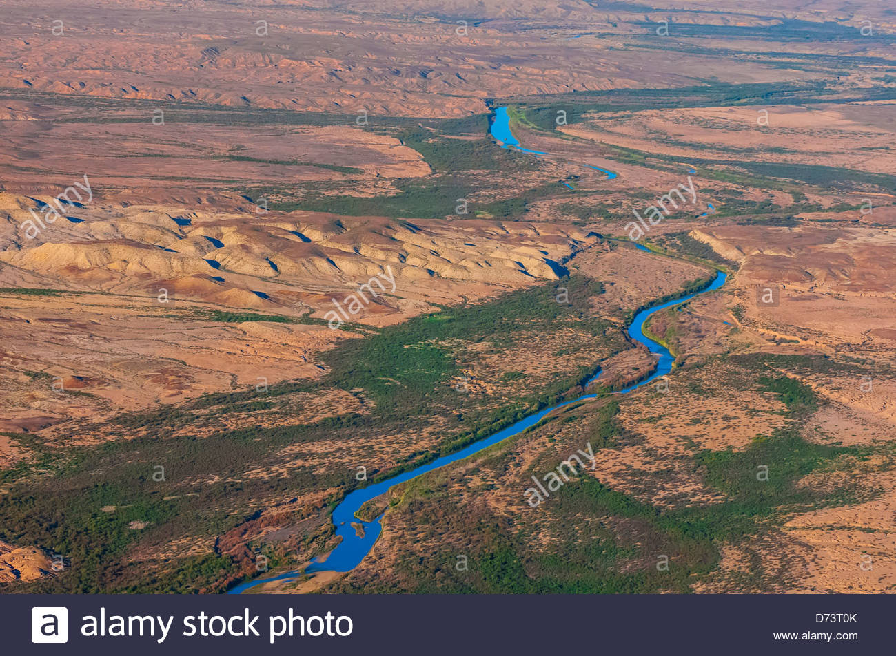 Aerial View Taken Over Big Bend National Park Texas USA Looking - Aerial maps over mexican us border