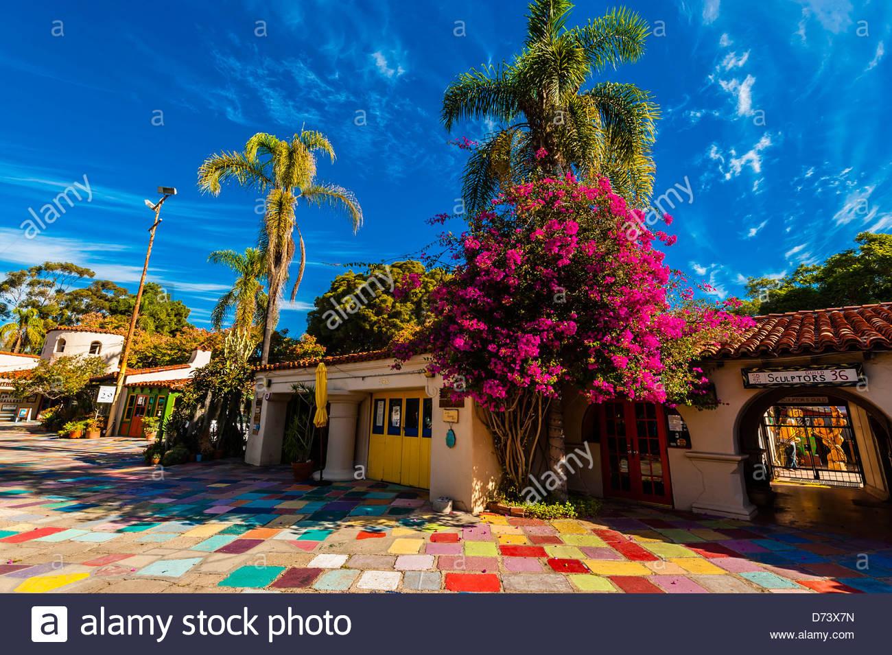 spanish village art center, balboa park, san diego, california usa