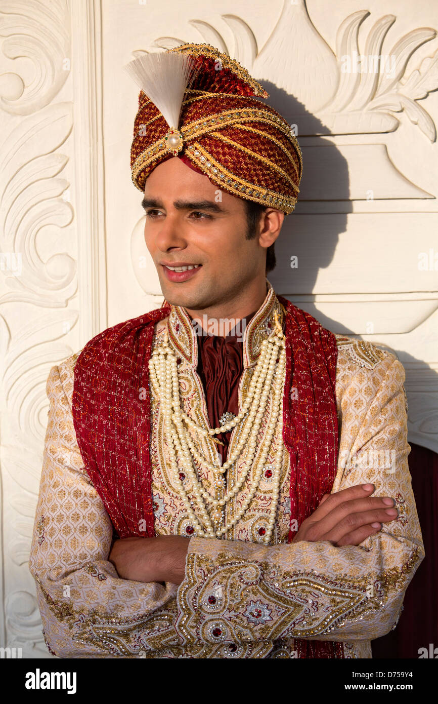 Indian Groom In Traditional Wedding Outfit Stock Photo Royalty Free Image 56051272