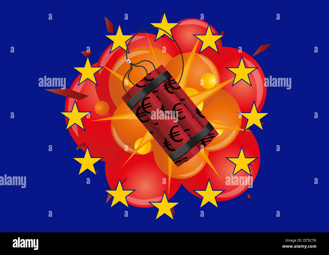 Illustration of dynamite and explosion with euro symbol stock stock photo illustration of dynamite and explosion with euro symbol buycottarizona