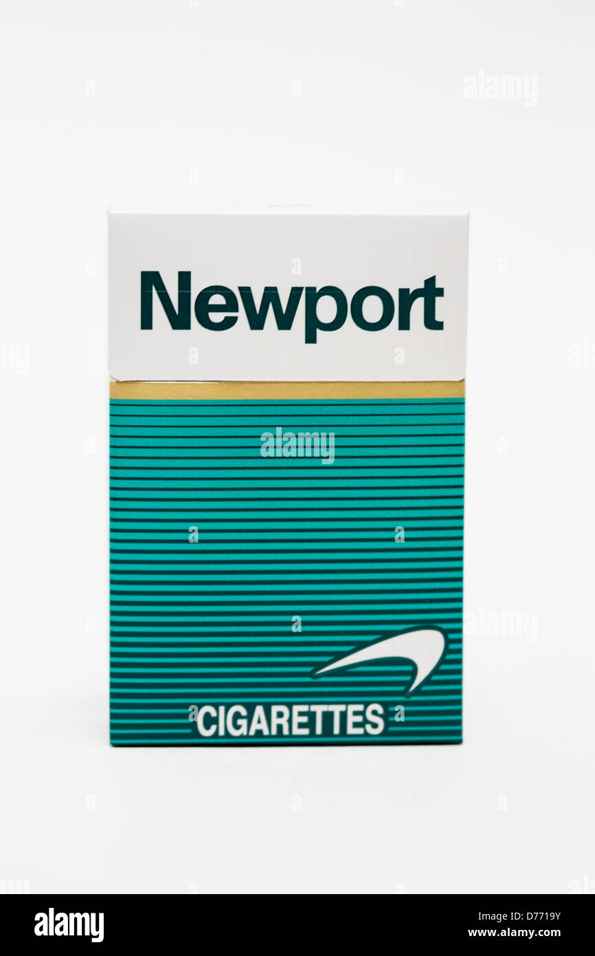 Uniquely Newport Package Of The: A Pack Of Newport Cigarettes Stock Photo, Royalty Free