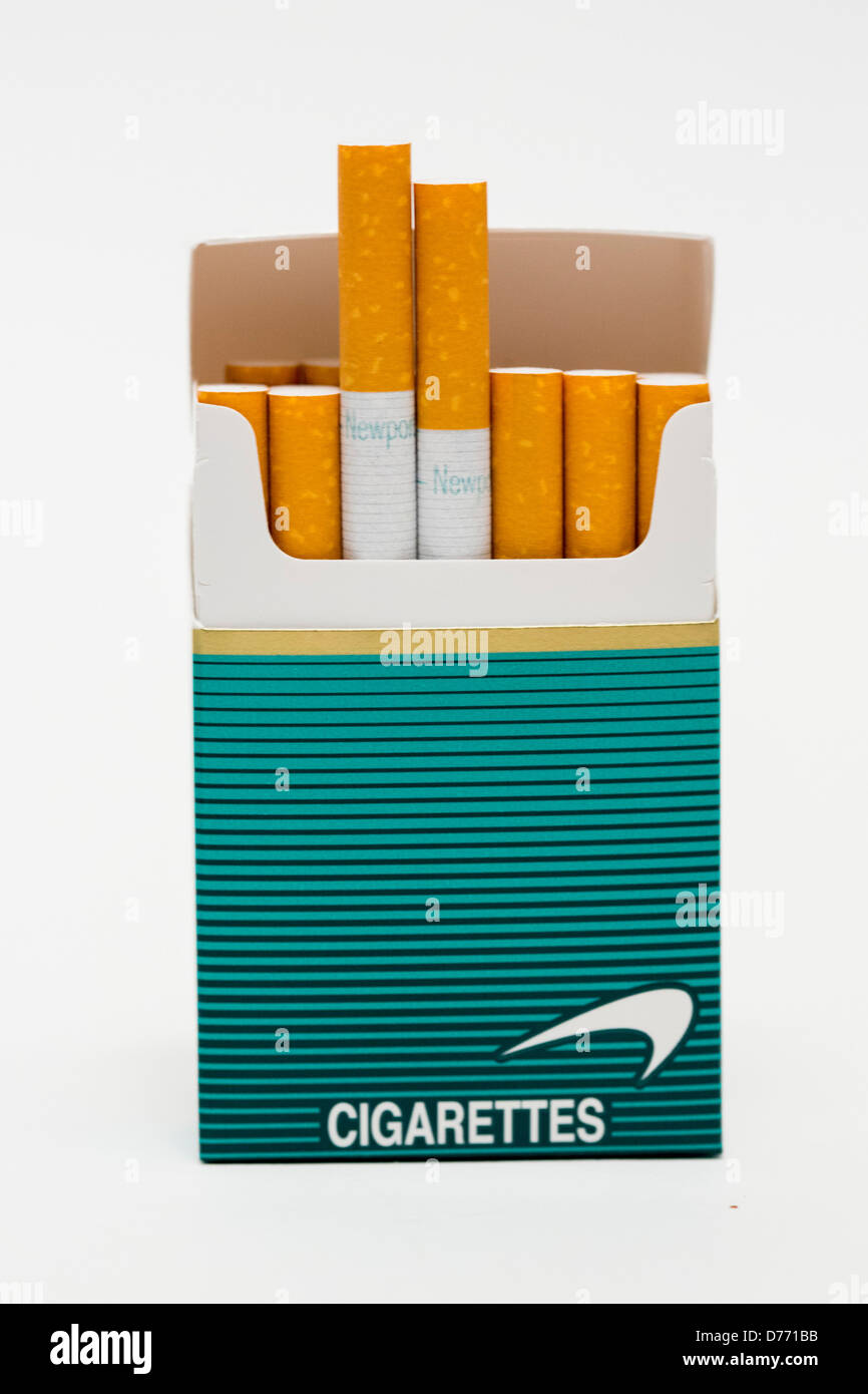 A Pack Of Newport Cigarettes Stock Photo Royalty Free