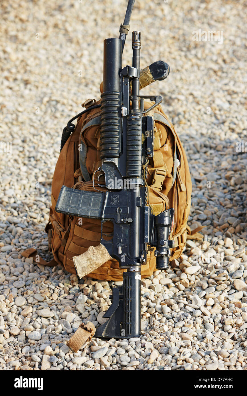 U.S. Marine Corps M4 Fitted M203 40mm Grenade Launcher ...
