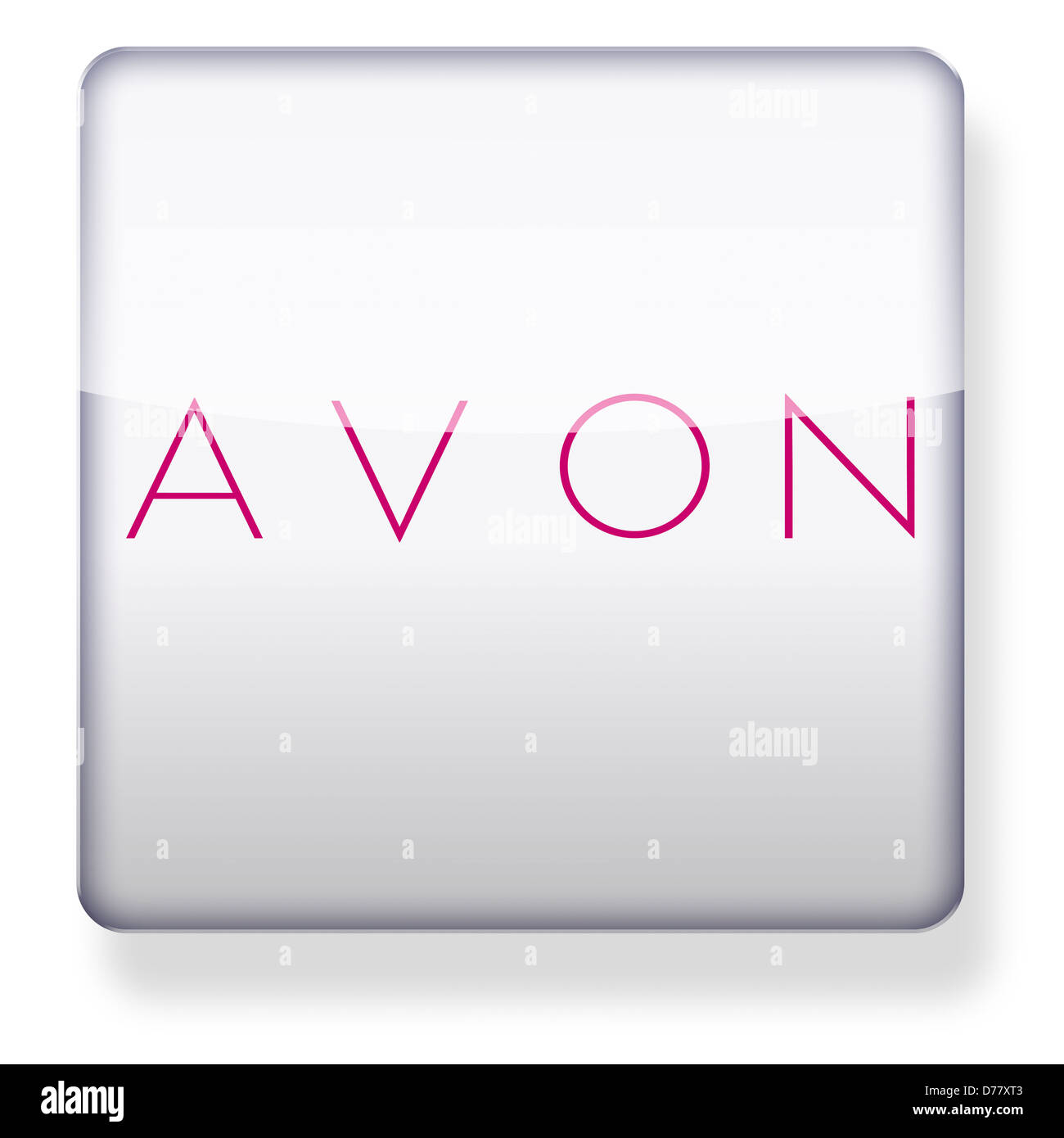 Stock Photo - Avon cosmetics logo as an app icon. Clipping path included