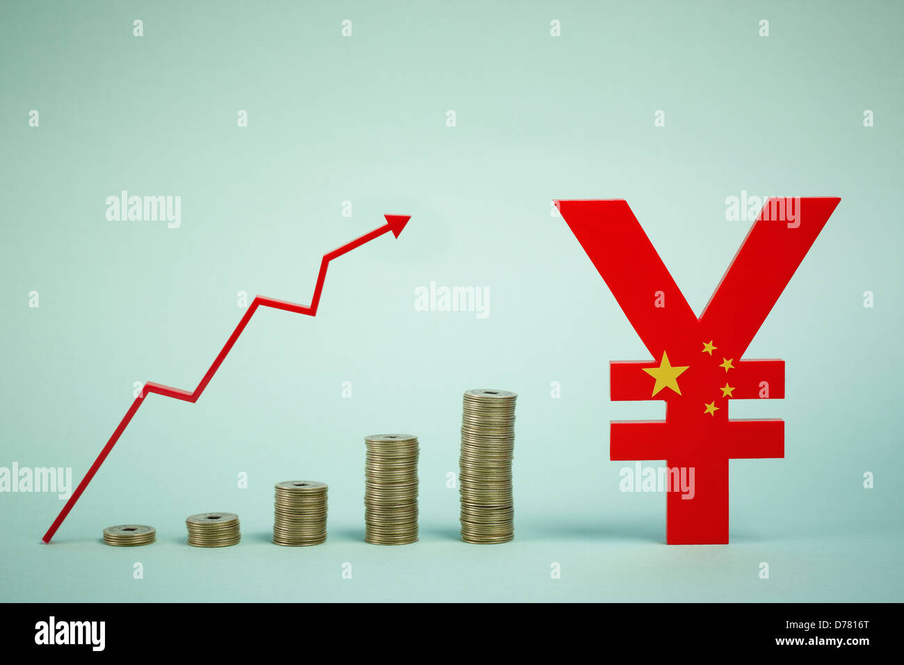 Chinese yuan symbol next to a rising graph of currency stock photo chinese yuan symbol next to a rising graph of currency biocorpaavc Image collections