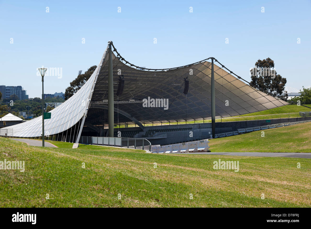Stock Photo   The Sidney Myer Music Bowl, An Outdoor Entertainment Centre  In Melbourne, Australia